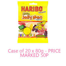 HARIBO FAVOURITES FROM SUPER MIX LITTLE JELLY MEN CASE OF 20 X 80G SEALED BAGS