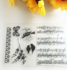1 Sheet Silicone Transparent Stamp Seal Sheet music DIY Scrapbooking Album ~!