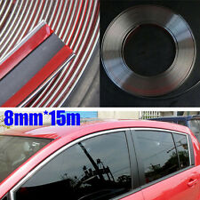 New Style 8mm*15m Car Chrome Moulding Trim Strip Tape Door Edge Guard  Protector