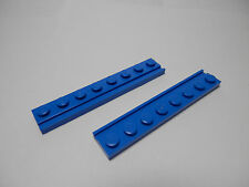 LEGO LEGOS Set of 2 New 1 X 8 Plates with Door Rail Blue 2013 8-12 Boys & Girls