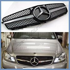 040 Painted Black 2012- 2014 BENZ W204 C300 C250 C350 SL Type Front Grille Hood