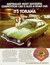 1972 LJ HOLDEN TORANA GTR A3 POSTER AD BROCHURE MINT ADVERT ADVERTISEMENT