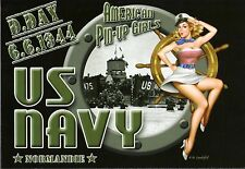 WW2 - CP - American Pin-Up Girls  dans l'US Navy