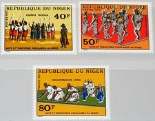 NIGER 1977 579-81 399-01 Popular Art & Traditions Volkskunst & Tradition Dance**