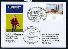 79052) LH FF München - Malta 2.4.2011, Sonderkarte