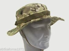 US Army Style GI Boonie Wide Brim Ripstop Multicam Bush Hat Size MEDIUM