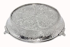 "GiftBay Wedding Cake Stand Tapered Round 14"", Silver Built For Heavy Party Cake"