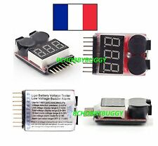 ALARME TESTEUR BATTERIE LIPO 1S~8S CHECKER, Low Voltage ALARM,BATTERY TESTER RC