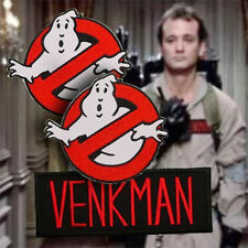 "GHOSTBUSTERS - PAIR of 4"" Embr. Iron-On Logo Patches + ""VENKMAN"" Name Patch!"