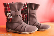 NEW! Patagonia Kula Buckle Performance Espresso Red Plaid Boots 6.5 37.5 $140