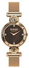 Versus by Versace Womens Sunnyridge Watch SOL130016 Swarovski Rose-Gold IP Steel