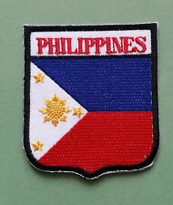 NATIONAL FLAG COUNTRY SHIELD SEW ON / IRON ON EMBROIDERED PATCH:- PHILIPPINES
