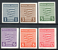 GERMANY 1945 SOVIET ZONE Saxony Province : Arms Issue IMPERF Fine MINT NH Set