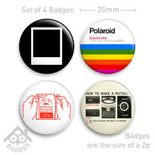 "POLAROID Camera SX-70 1000 RETRO Film - 1"" Badge - Set of 4 x 25mm Badges"