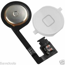 iPhone 4S Replacement Home Button Flex Cable Ribbon Wire Assembly Part White