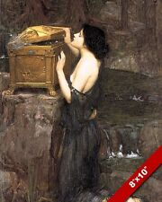 OPENING PANDORA'S BOX GREEK MYTHOLOGY OIL PAINTING ART REAL CANVAS GICLEE PRINT