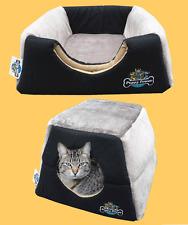 Cat Kitten Cave, Puppy Dog, Pet Igloo, Cat Basket, Pet Mat, Hidey Hole - Black
