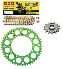DID race chain & 13t/50t Renthal green sprocket kit Kawasaki KX450F 2006-2016