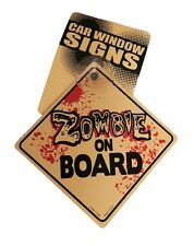Zombie On Board Hard Plastic Suction  Vehicle Car Sign Decoration Walking Dead