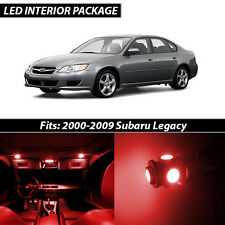 2000-2009 Subaru Legacy Red Interior LED Lights Package Kit