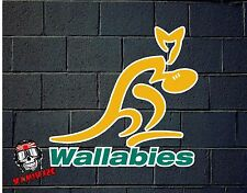 PEGATINA STICKER   AUFKLEBER DECAL AUTOCOLLANT   AUSTRALIA  RUGBY  WALLABIES