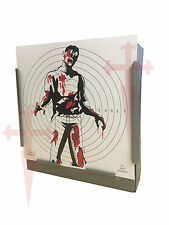 100 Air Rifle SG Zombie FULL COLOUR Paper Targets 14cm Pistol Gun 100gsm UK Made