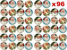 96 x 3cm Father Christmas Santa Vintage Xmas Edible Rice Paper Cup Cake Toppers