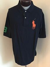 NWT Men's Big & Tall Polo Ralph Lauren SS Classic Polo Shirt Blue 4 XLarge Tall