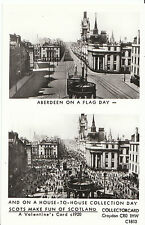 Scotland Postcard - Aberdeen On A Flag Day - House-To-House Collection Day V2239