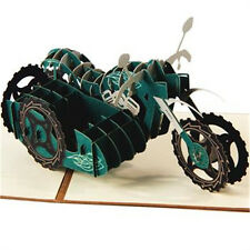 Handmade 3D Pop Up Greeting Card Motorcycle Autobicycle For Birthday Father Day