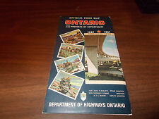 1967 Ontario Province-issued Vintage Road Map