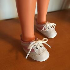 WHITE & PINK SNEAKERS SHOES FIT IDEAL CRISSY VELVET SIZE DOLLS