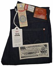 Levi's Men's 1915 501 Jeans Rigid #155010008 Made in USA Selvedge Panama Tag
