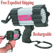 Hand Crank Spotlight 16 LED Flash Light Rechargeable Emergency Car Truck New