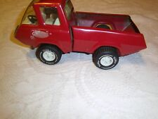 Vintage Tonka mid truck red bed flat nose