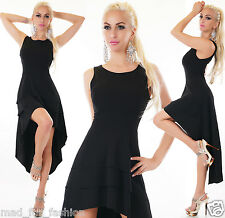 SEXY BLACK PARTY OCCASSION HIGH LOW DRESS. ONE SIZE 8/10.
