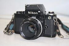 Nikon F2  Photomic Black SLR Film Camera w/ Nikkor 50mm 1:2 3624780