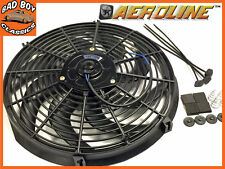 "14"" AeroLine Electric Radiator 12v Cooling Fan Curved Blade For CLASSIC CAR"