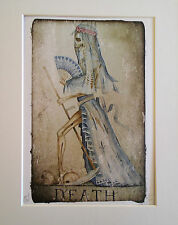 Dominic Murphy Arte SURREALE WEIRD limitata aggiunta stampa XIII morte Tarot Card