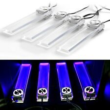4x LED 12V DC Car Auto Interior Atmosphere Footwell Lights Decor Lamp Blue Light