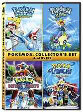 Pokemon Collector's 4 Movie Set DVD Heroes 4Ever Destiny Deoxys Jirachi