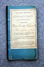 1900s NEW BEDFORD SAFE DEPOSIT TRUST Bank Book REGISTER Banking ACCOUNT Mass MA