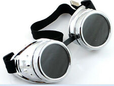 Steampunk cyber Goggles Welding Crazy Scientist Gothic Cosplay Costume Glasses