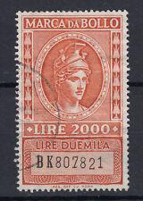 1981 DEA ROMA MARCA DA BOLLO TASSA FISSA 1000 LIRE I.P.Z USATA