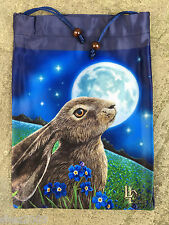 New Pure Silk Drawtring Bag from Lisa Parker ~ Moon Gazing Hare