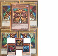 EXODIA + EGYPTIAN GOD CARDS: OBELISK * SLIFER RA 8-CARD SET Lot  LDK2 YUGIOH TCG