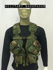 New Vest Tactical Load Bearing Enhanced Gun Harness Woodland 30rd Mag Pouches