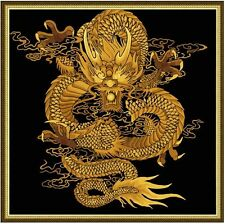 Paint by Number kit 60x60cm (24x24'') Golden Dragon DIY Painting PBN JC9001