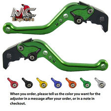 MC Short Adjustable CNC Levers Buell XB12Scg XB12Ss XB12R 2009 Green