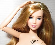 (B)NUDE BARBIE (B~STRAWBERRY BLONDE ARTICULATED DIVERGENT TRIS LEA DOLL FOR OOAK